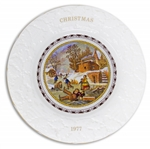 Margaret Thatcher Personally Owned Christmas Plate, Made of Porcelain China, Dated 1977